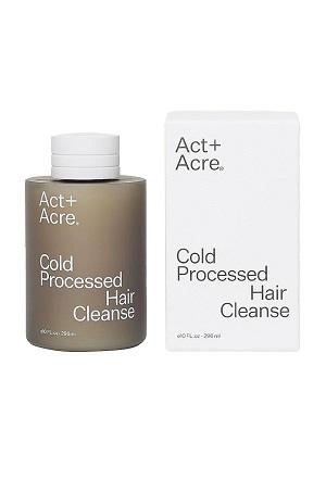 Shampooing nettoyant pour cheveux traité à froid Act + Acre