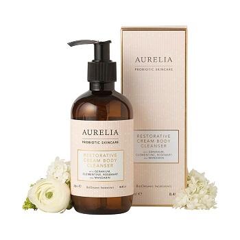 Aurelia Soin réparateur probiotique Crème nettoyante pour le corps