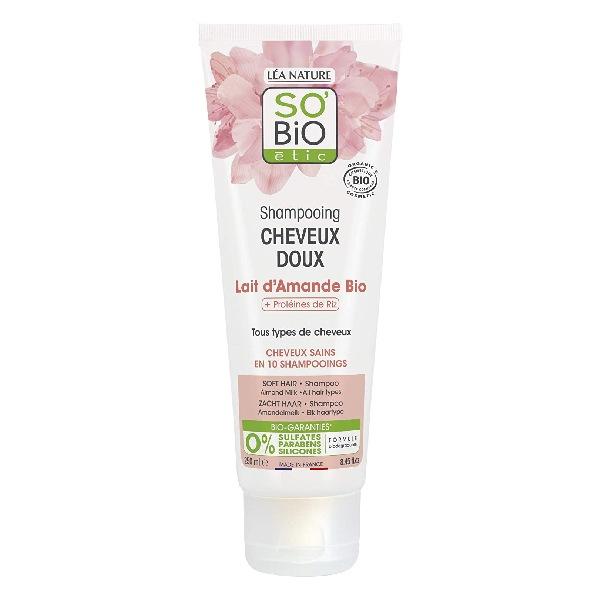 7- So 'Bio Étic Shampoing cheveux doux - Lait d'amande et proteines de riz - Bio